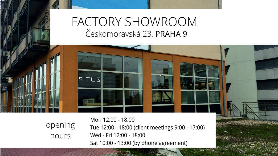 new factory showroom of SITUS in Prague